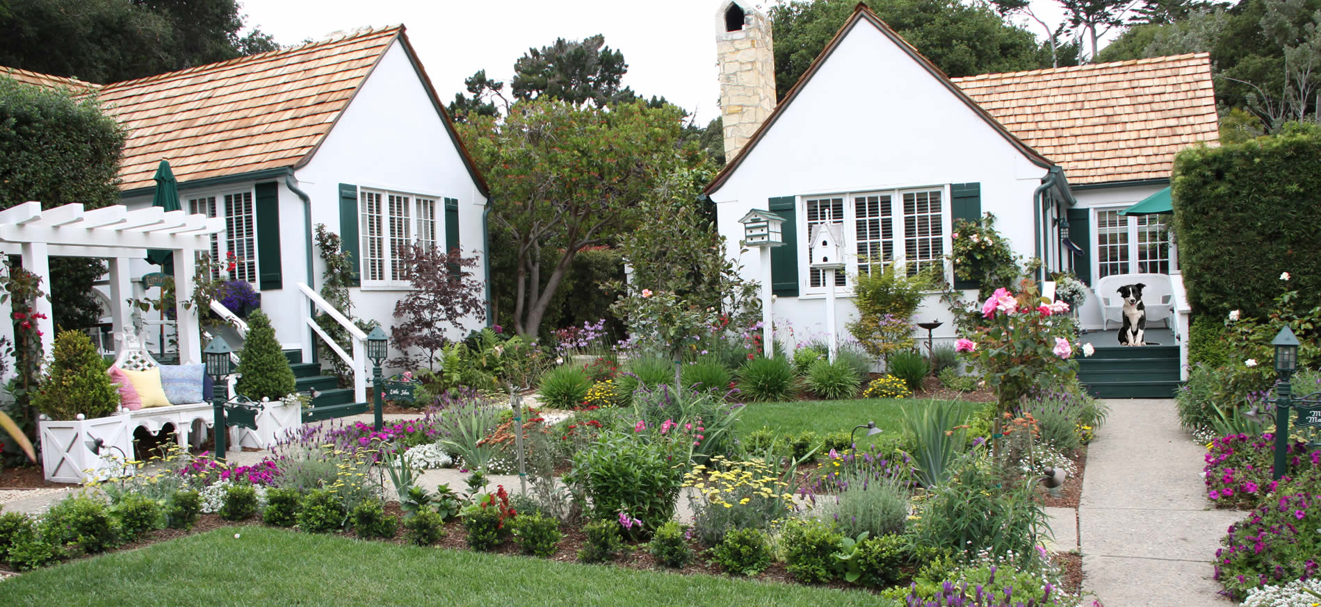 pet-friendly carmel cottages in english gardens