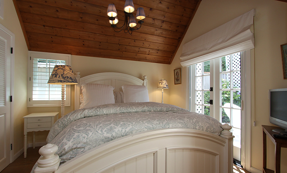 morning glory bedroom with french doors